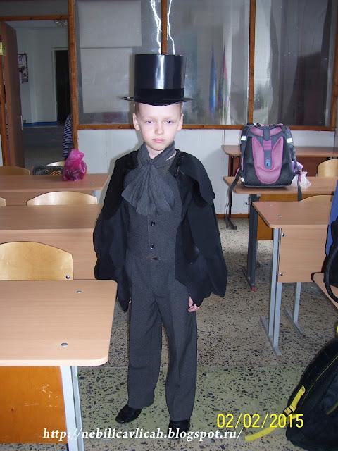 костюм ворона для детского спектакля