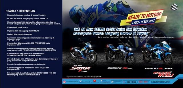 Suzuki Cari 70 Konsumen Untuk Ikut Nonton MotoGP Langsung
