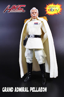 Custom ADMIRAL PELLAEON Star Wars Black series 6 inch figure by Hunter Knight Customs