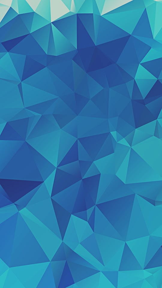 Low Poly Blue Triangles  Galaxy Note HD Wallpaper