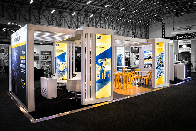 Expo Stands Interior Office 2016 : Caterpillar mining indaba custom expo stand hott d