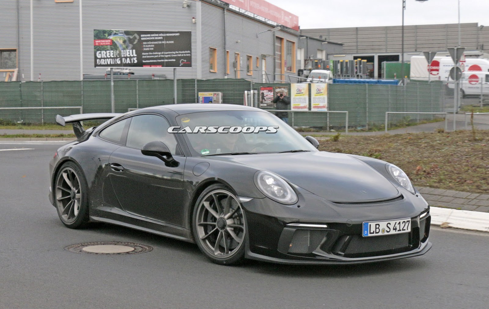 facelifted 2017 porsche 991 gt3 spied completely free of camo carscoops. Black Bedroom Furniture Sets. Home Design Ideas