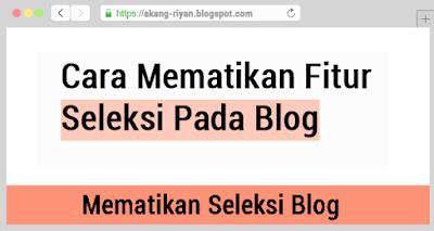 Cara Mematikan Fitur Drag Dengan CSS Pada Blogger