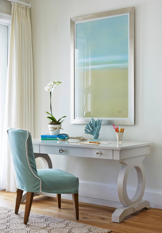 Coastal Beach Theme Home Office Nook