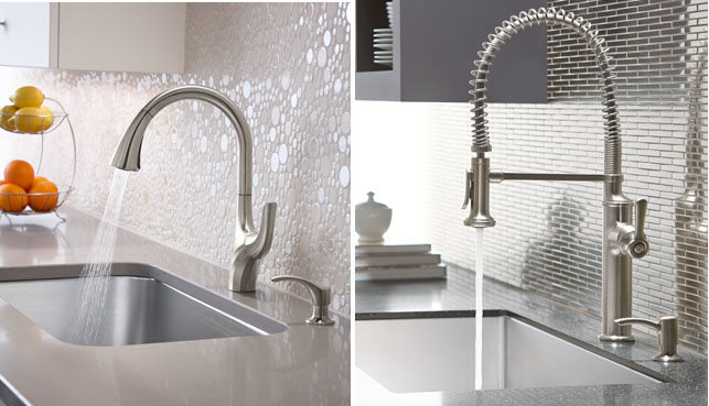 Kohler Sous, Worth and Trielle faucets