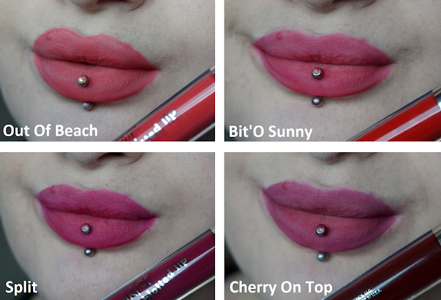 Swatches Ultra Blotted Lip Colourpop