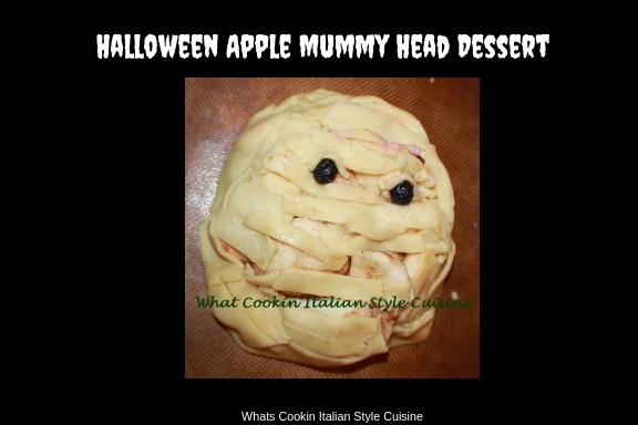How to make an Apple Pie Mummy Head