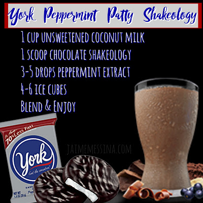 York peppermint patty shakeology, healthy candy recipe, clean eating candy, healthy halloween