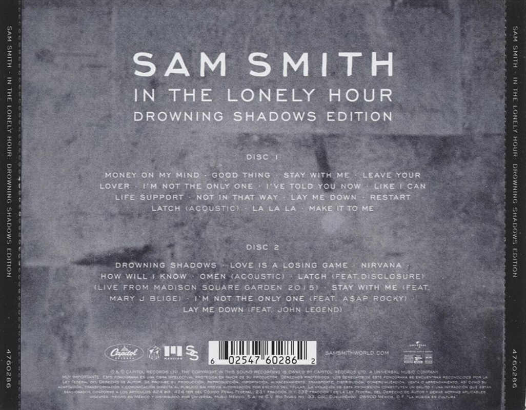 encartes pop encarte sam smith in the lonely hour