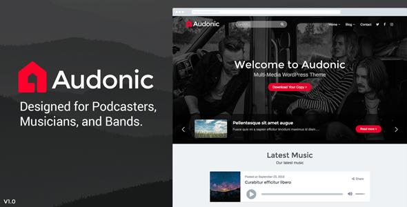 Download] Audonic - Music & Podcasting WordPress Theme
