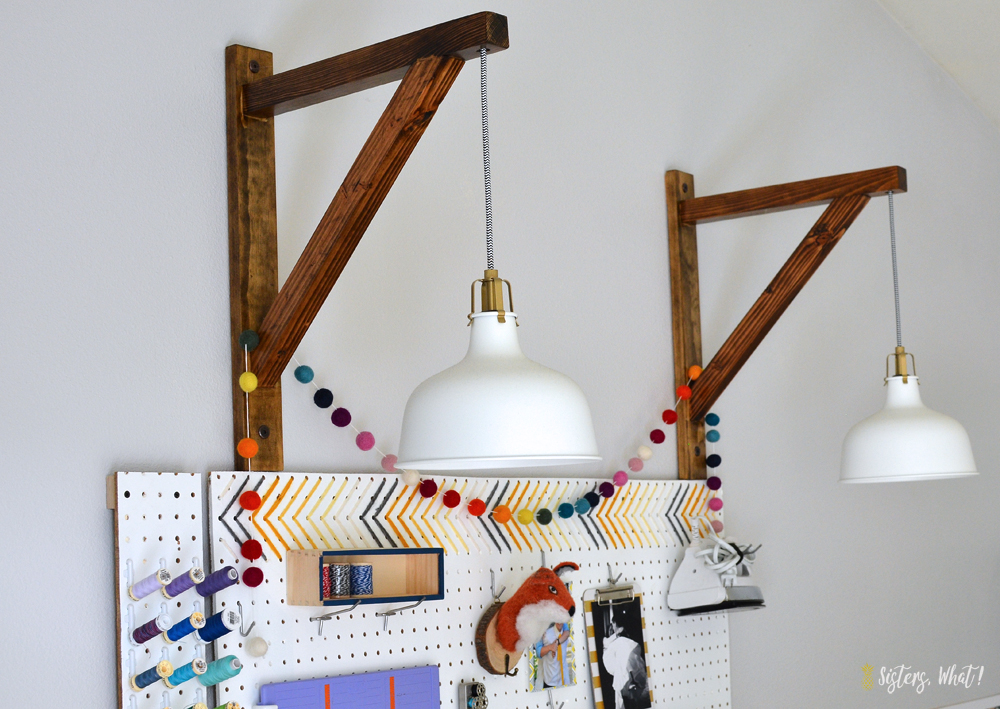 Ikea Ranarp Light hack with DIY light holder for lighting in craft space