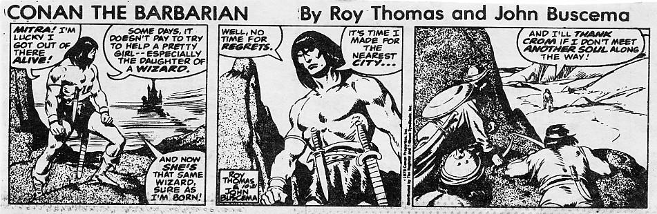 Books and Comics: Conan the Barbarian (Newspaper strips)