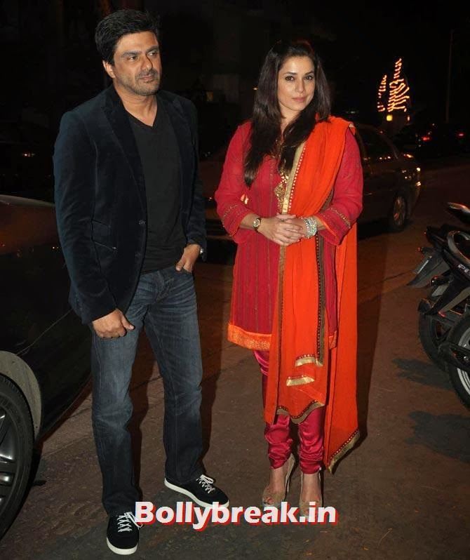 Sameer Soni and Neelam, Ekta Kapoor's Diwali bash 2013