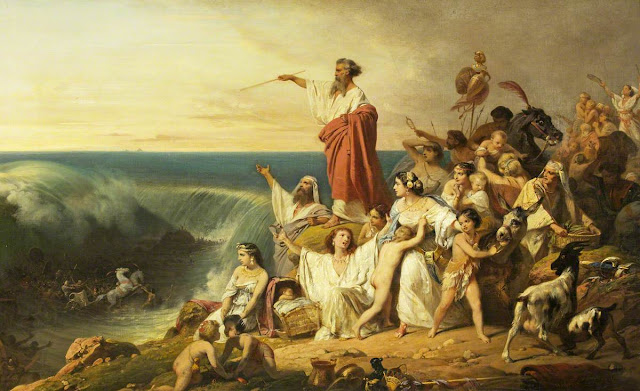 The Children of Israel Crossing the Red Sea by Frederic Schopin, 1804–1880. Oil Upon Troubled Waters. marchmatron.com