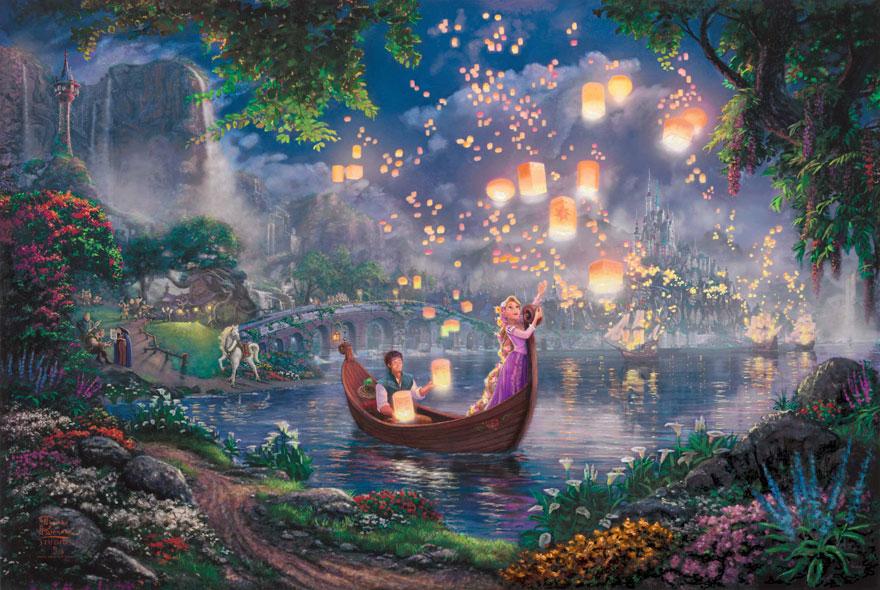 Amazing Disney Paintings By Thomas Kinkade
