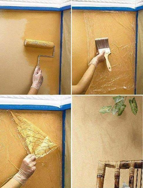 Diy cmo pintar paredes con efectos - Tecnica para pintar paredes ...