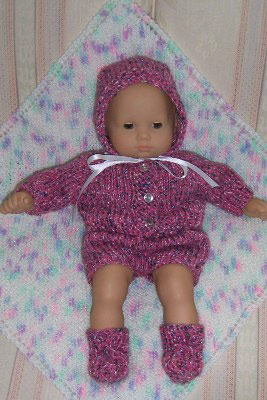 How To Knitting Patterns For Beginners : Karen Mom of Threes Craft Blog: Free Knitting Bitty Baby Pattern From Kn...