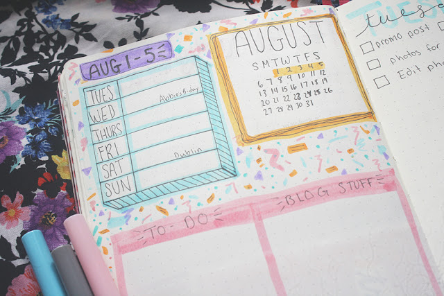 Bullet Journal Set-Up || August 2017