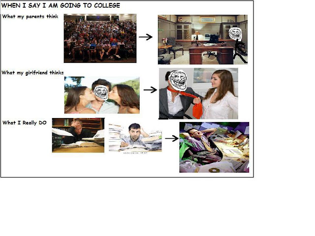 What They Think, What I Really Do in College!