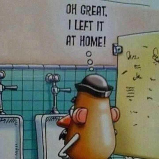 Funny Mr Potato Head Picture - Oh great, I left it at home!