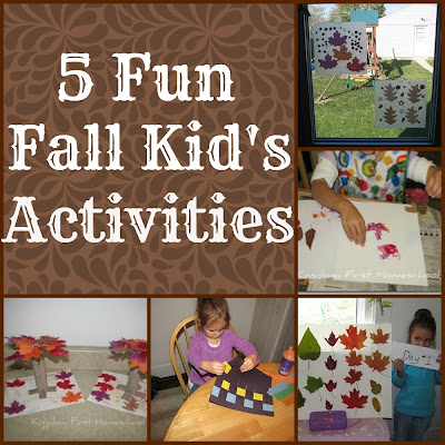 5 Fun Fall Kid's Activities
