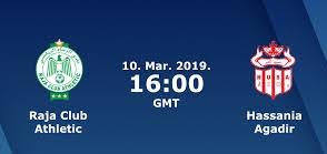 اون لاين مشاهدة مباراة الرجاء وحسنية اكادير بث مباشر 10-03-2019 كاس الكونفيدرالية اليوم بدون تقطيع