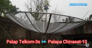 Cara tracking chinasat 10 dari satelit palapa dan telkom