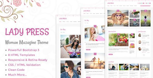 Lady Press шаблон для женского сайта 2017