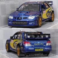 Miniatur Subaru Impreza WRC (Blue-32K)