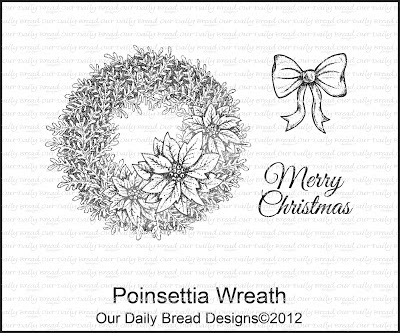 Our Daily Bread Designs Poinsettia Wreath