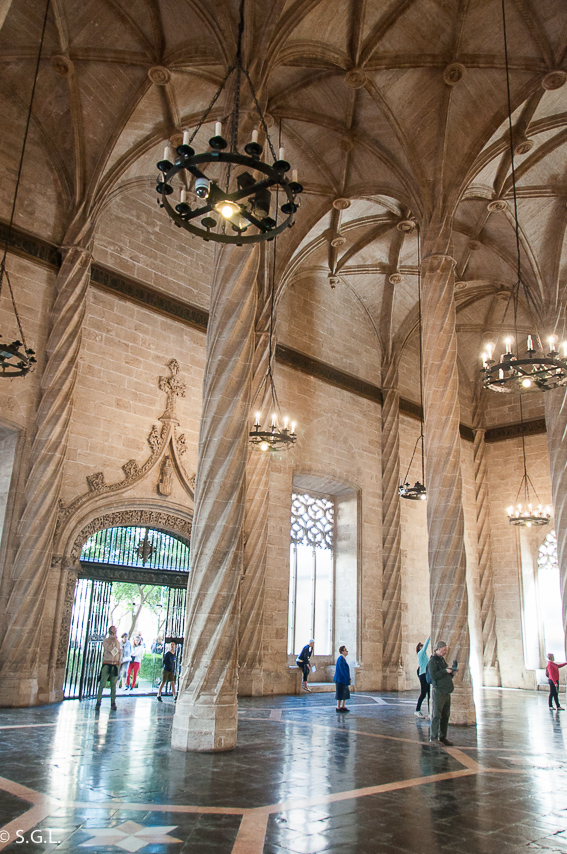 Salon Columnario lonja de la seda de Valencia