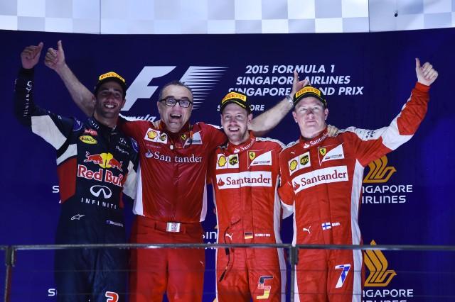 Sebastian Vettel Wins In Singapore