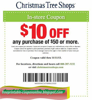 free printable christmas tree shops coupons - Christmas Tree Store Coupon