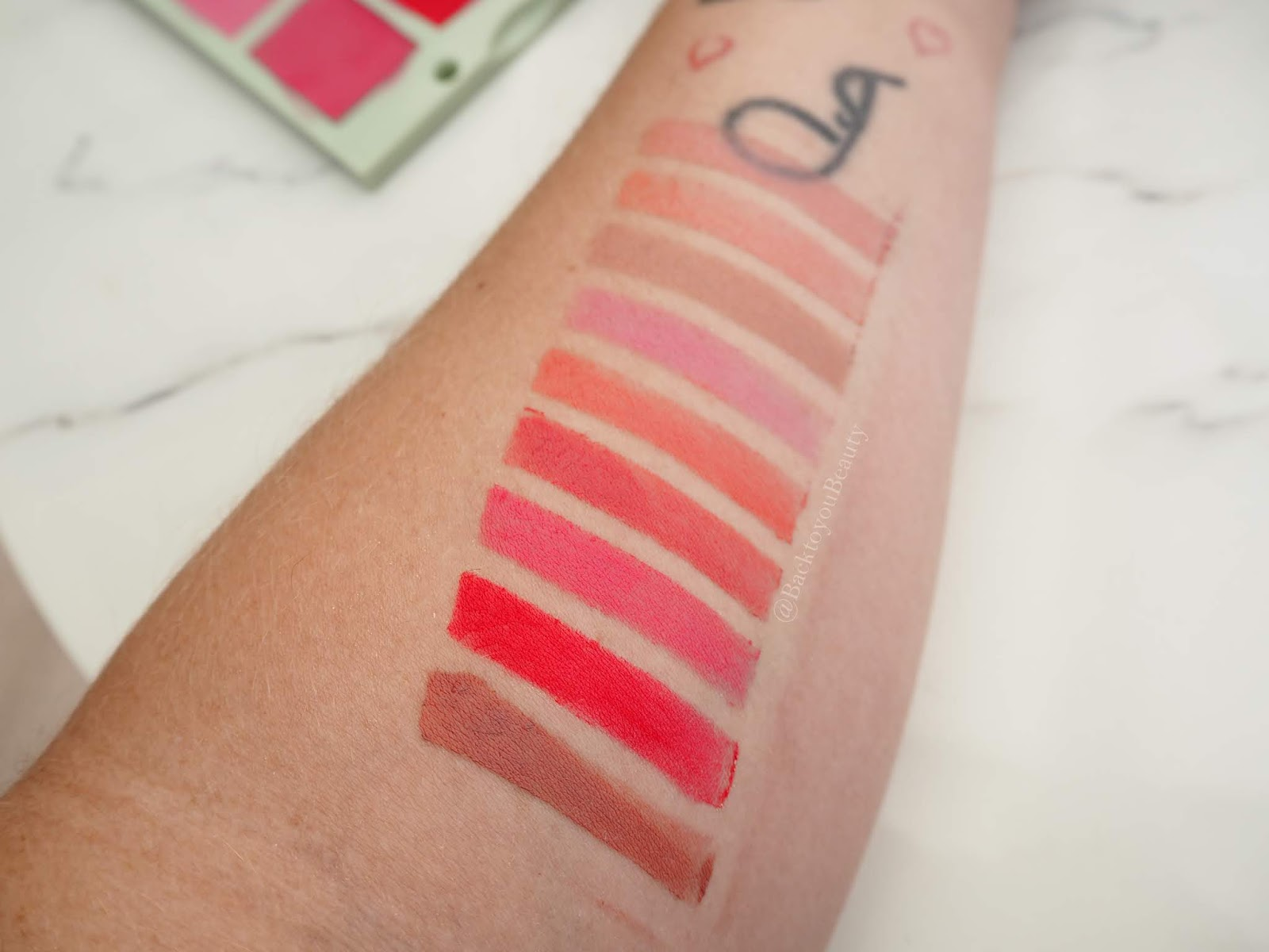 Pixi Lip swatches