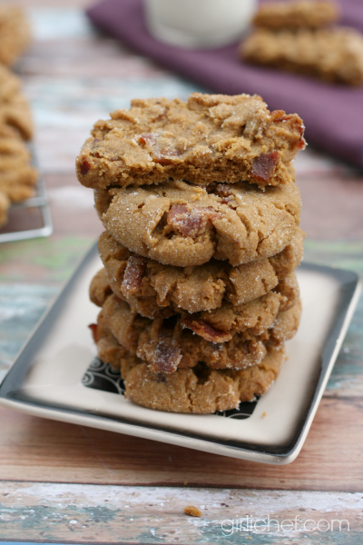 Flourless Peanut Butter Bacon Cookies