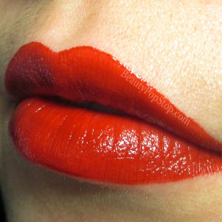 ellisa faas milky lips L201 swatch red lipstick