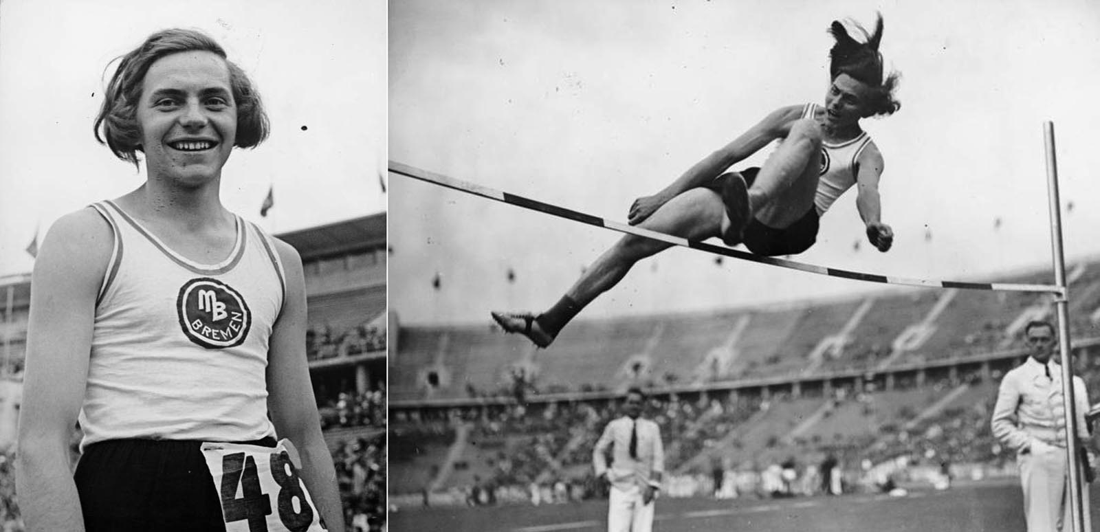Ratjen's winning 1.63-meter jump at the 1937 German Athletics Championships.