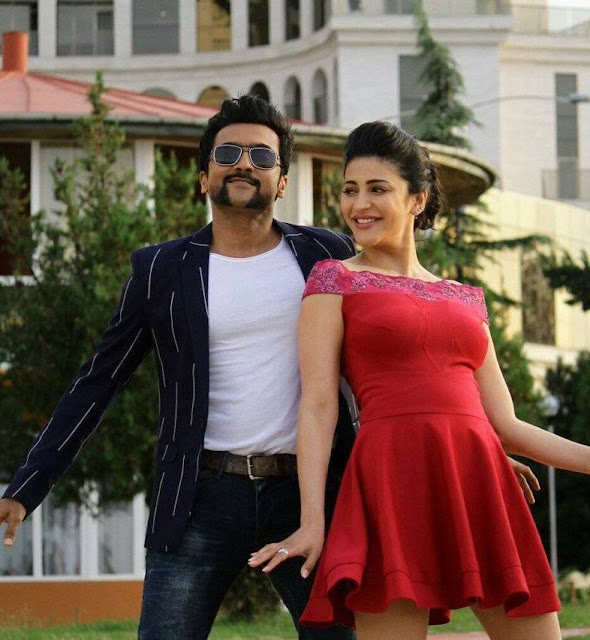 Cute Images Of Shruti hassan with singam surya