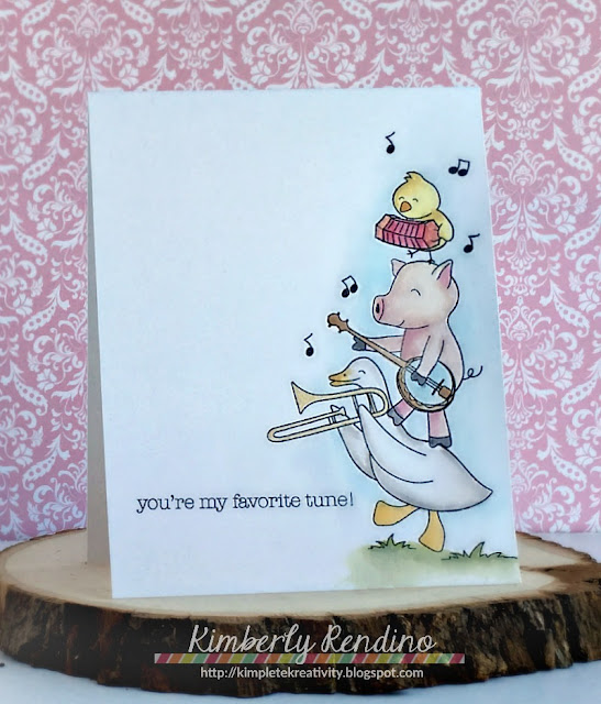 barnyard band | clear stamps | cardmaking | handmade card | watercolor | kimpletekreativity.blogspot.com | whimsy stamps | Kimberly Rendino