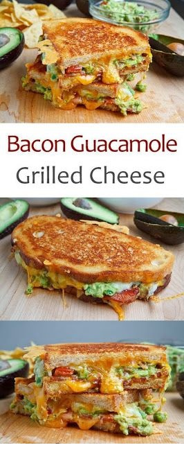 Bacon Guacamole Grilled Cheese