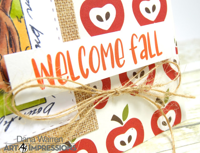Dana Warren - Kraft Paper Stamps - Art Impressions - Echo Park Place Celebrate Autumn