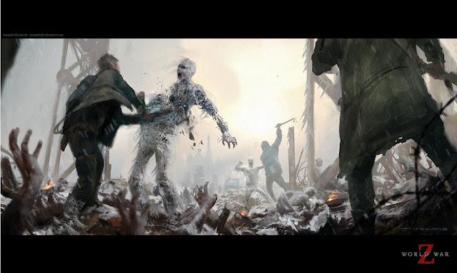 World War Z: concept art del primo film (realizzato da Joseph McLamb)