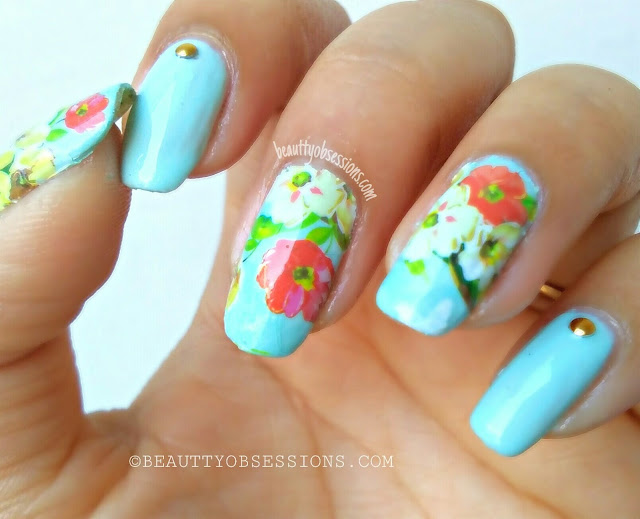 Flower Pattern Nailart Tutorial | Feeling Spring-y Already