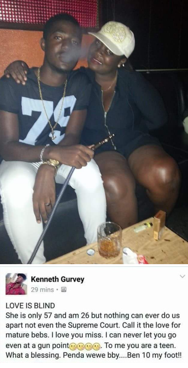 26 year old Kenyan flaunting his 57 year old lover