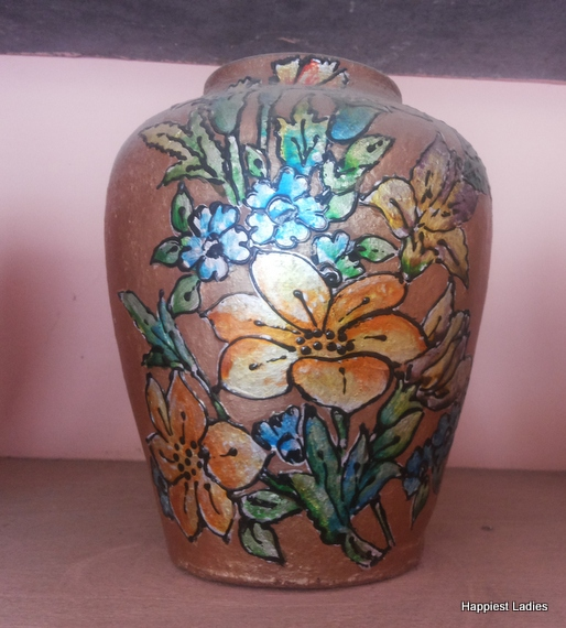 hand painted vase design