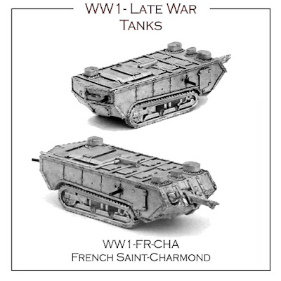 WW1-FR-CHA French Late War Tank - St Charmond