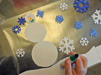 Easy winter craft for toddlers from And Next Comes L