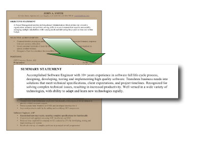 How to Write a Resume Summary Statement \u2013 The Science Jobs - how to write a resume summary statement