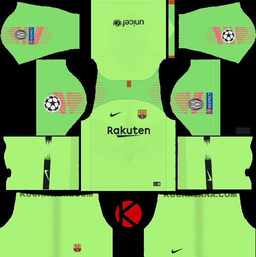 F C  Barcelona 2018/19 Nike Kit - Dream League Soccer Kits