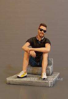 statuine personalizzate da foto idea regalo padre papà uomo seduto orme magiche